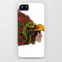 Indian Chieftain Head Illustration iPhone Case