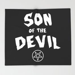 Son of the Devil Throw Blanket
