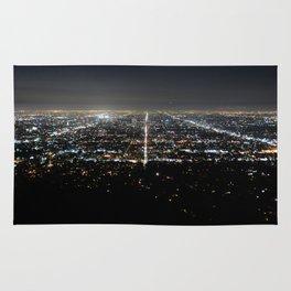 Los Angeles Skyline @ Night  Rug