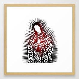 La Virgen De Joshua Tree by CREYES Framed Art Print