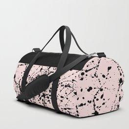 Splat Black on Blush Boarder Duffle Bag