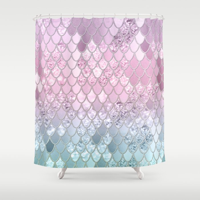 Mermaid Glitter Scales #2 #shiny #decor #art #society6 Shower Curtain