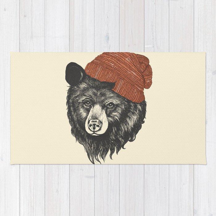zissou the bear Rug