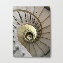 Vizcaya Spiral Staircase in Miami Metal Print