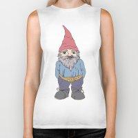 gnome Biker Tanks featuring Gnome Sayin?  by Aubree Eisenwinter