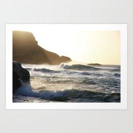 Sunset waves - Fuerteventura Art Print
