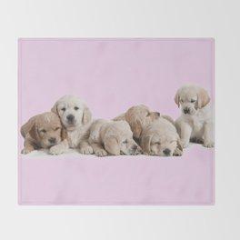 Golden Retriever Puppies Throw Blanket