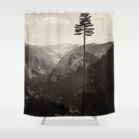 yosemite Shower Curtains featuring Yosemite Valley, California by Chateau Partay