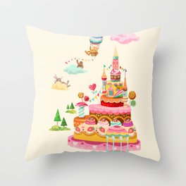 Ice Cream Castles In The Air Throw Pillow