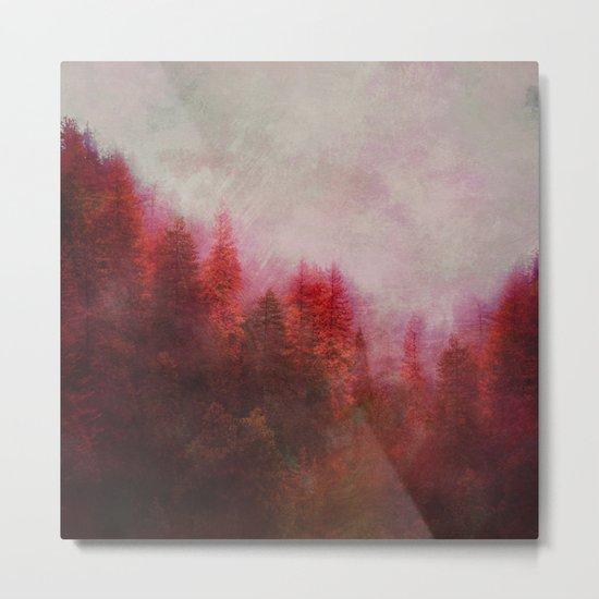 Dreamy Autumn Forest Metal Print