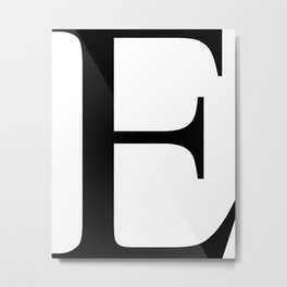 E letter Metal Print