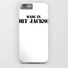 Made in Fort Jackson Veteran DD  Alumni v T Shirt iPhone Case