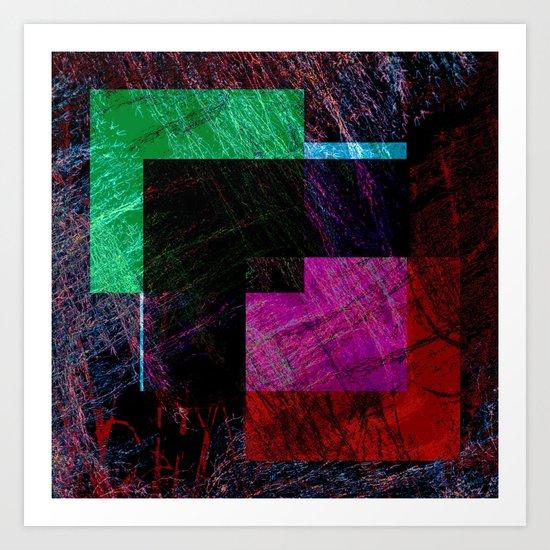 geometric abstract design # ###     ## Art Print
