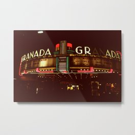 Night Lights Granada Theater, Ithaca NY Metal Print