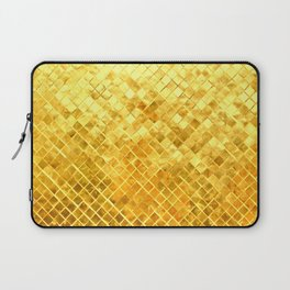 Give me Gold: festive, golden, fashionable, 3-d, glittery, Christmas, cheerful, lattice design Laptop Sleeve