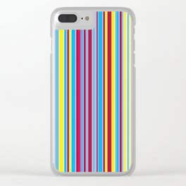 Stripe obsession color mode #1 Clear iPhone Case