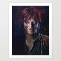 daryl Art Prints featuring Daryl Dixon by Guilherme Marconi