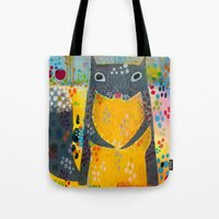 squirrel Tote Bags featuring Squirrel by Rookery Design
