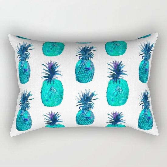 Mint pineapples    watercolor Rectangular Pillow
