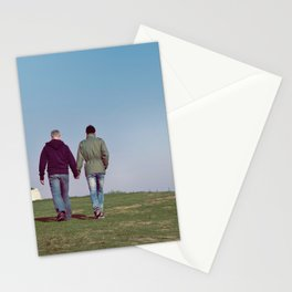 Gay Men Holding Hands Stationery Cards