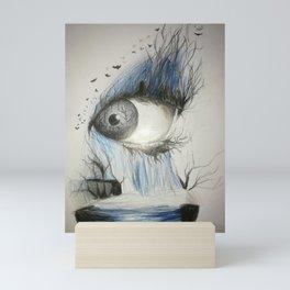 Eye fall Mini Art Print