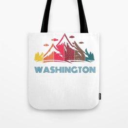Retro Mountain Washington Design  for Men Women and Kids Tote Bag