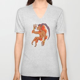 Tea Toting Ifrit Unisex V-Neck