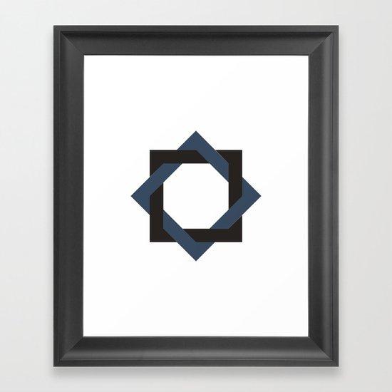 #252 Twine – Geometry Daily Framed Art Print
