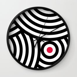 Cropped Roundels Wall Clock