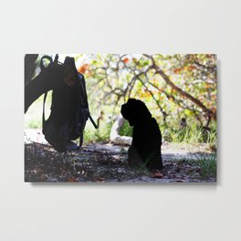 I'll be here when you return  Metal Print