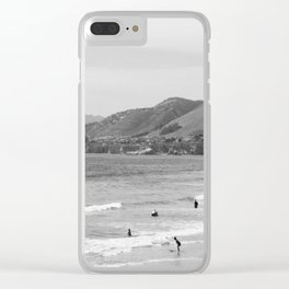 Sad Beach Reality Clear iPhone Case
