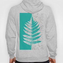 Natural Outlines - Fern Teal & Concrete #180 Hoody