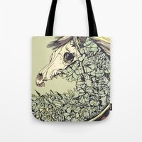 horse Tote Bags featuring Beautiful Horse Old by Diego Verhagen