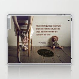 Proverbs 5:22 Laptop & iPad Skin
