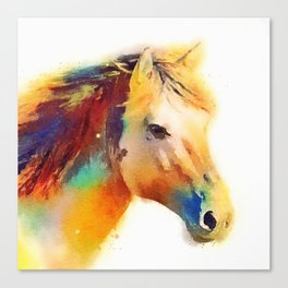 The Spirited - Horse Canvas Print