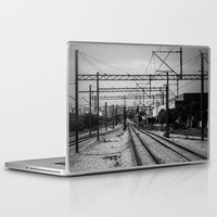 train Laptop & iPad Skins featuring Train by Maressa Andrioli