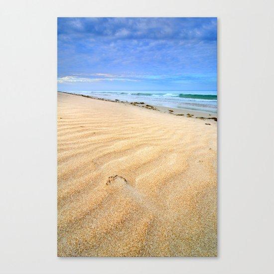 """Levante wind "" Magic Tarifa beach at sunrise Canvas Print"
