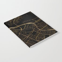 Black and gold Amsterdam map Notebook