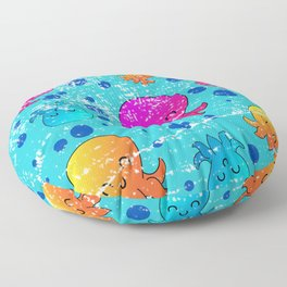 Colorful Octopuses Floor Pillow