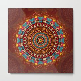Crystalline Harmonics - Tribal Metal Print