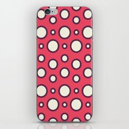 Boho Design Circles In Pink iPhone Skin