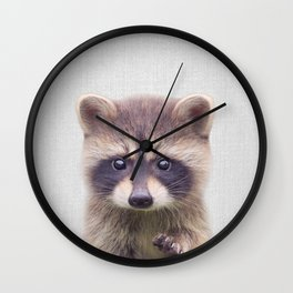 Raccoon - Colorful Wall Clock