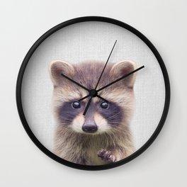 Raccoon - Colorful Wall Clock
