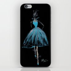 Blue and Light Haute Couture Fashion Illustration iPhone & iPod Skin