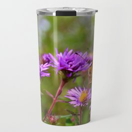 Butterfly and Asters Travel Mug