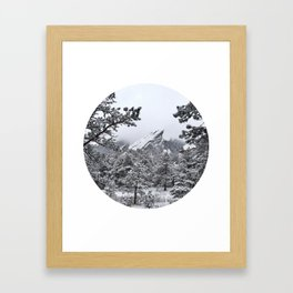 Boulder Colorado Flatirons In Snow Framed Art Print
