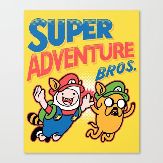 Super Adventure Bros Canvas Print