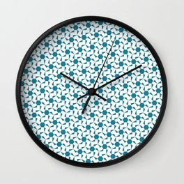 Damascus Motif Blue Palette Wall Clock