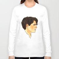 ezra koenig Long Sleeve T-shirts featuring Ezra Koenig / Vampire Weekend by Kat Schneider