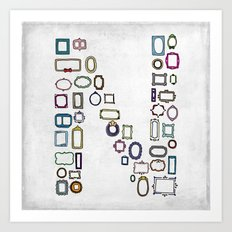 letter N - nailed frames Art Print